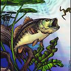 largemouth bass by margodalia