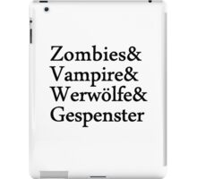 Zombies Vampire Werwölfe Gespenster iPad Case/Skin
