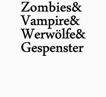 Zombies Vampire Werwölfe Gespenster Unisex T-Shirt
