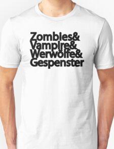 Zombies Vampire Werwölfe Gespenster T-Shirt