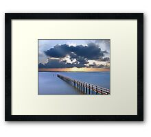 Pledge On a Blue Beach Framed Print