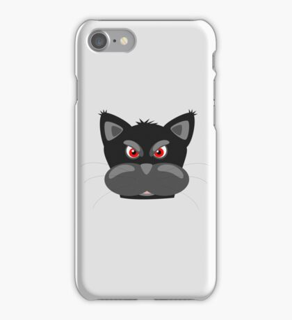 Cool Angry Crazy Mad Red Eyes Cat Cartoon Drawing T Shirts And Gifts iPhone Case/Skin