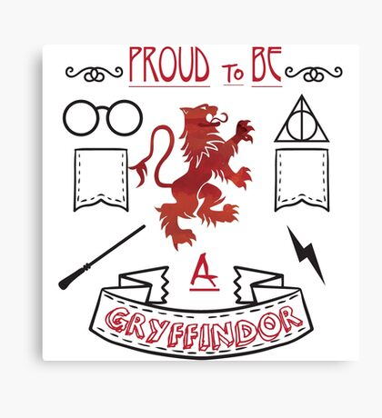 Proud to be a Gryffindor Canvas Print
