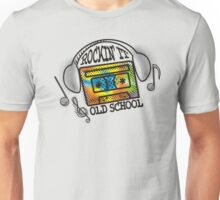 retro rockin it old school mix tape headphones Unisex T-Shirt