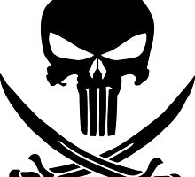 Punisher Pirate Skull by imike1369