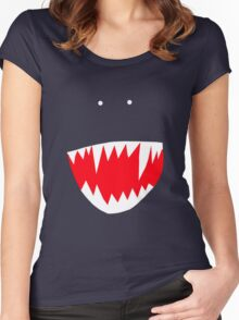 Spidey face Women's Fitted Scoop T-Shirt