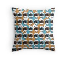HipsterSkull Pattern 2 Throw Pillow
