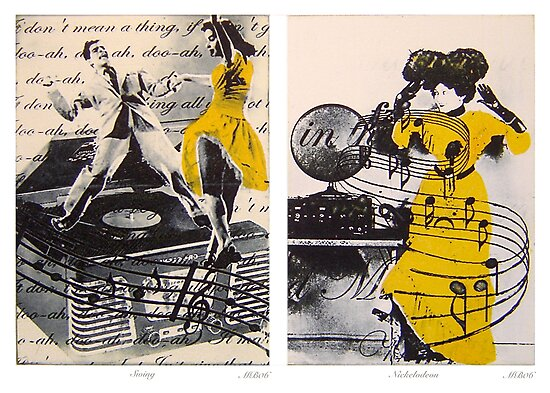 Dance Diptych by Marilyn Brown