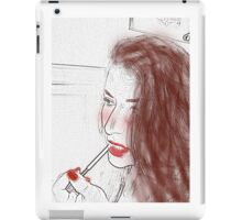 Lipstick girl iPad Case/Skin