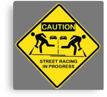 Street racing in progress Canvas Print