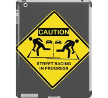 Street racing in progress iPad Case/Skin