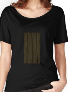 Glitch Homes Wallpaper wooden cave wall 3 Women's Relaxed Fit T-Shirt