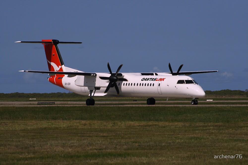 Qantas Dash 8-400 VH-QOH by archenar76