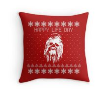 Happy Life Day Shirt / Sweater / Coffee Mug / Pillow - Star Wars Holiday Special - Christmas Sweater Design Throw Pillow