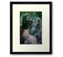 Lady in grassland Framed Print