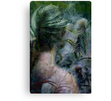 Lady in grassland Canvas Print