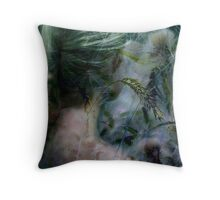 Lady in grassland Throw Pillow