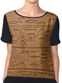 hieroglyphics  Women's Chiffon Top