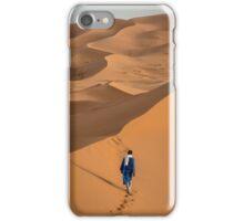 Solitude in the Sahara - Merzouga Dunes, Morocco iPhone Case/Skin