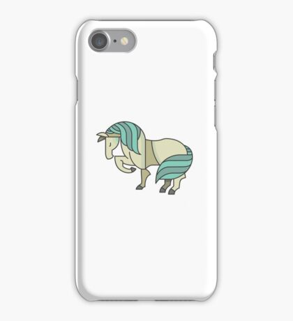 Cute Lovely Stylish Horse Drawing Cartoon - Adorable Horses T Shirts And Gifts iPhone Case/Skin