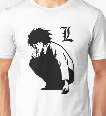 L Lawliet from Death Note Unisex T-Shirt