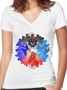 THE SUB-BOSSES OF GAMING Women's Fitted V-Neck T-Shirt