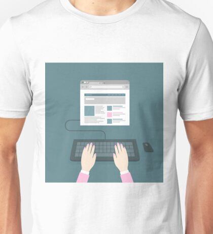 Hands on the keyboard Unisex T-Shirt
