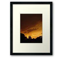 Orange Spice Framed Print