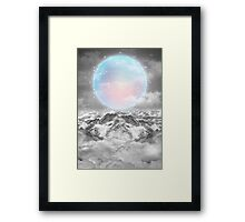 Places Neither Here Nor There (Guardian Moon) Framed Print