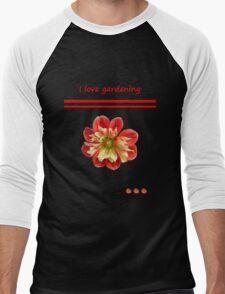Dahlia red-yellow - The gardeners retreat Men's Baseball ¾ T-Shirt