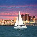 Evening Sail ~ San Diego Bay, California ~ United States by Marie Sharp