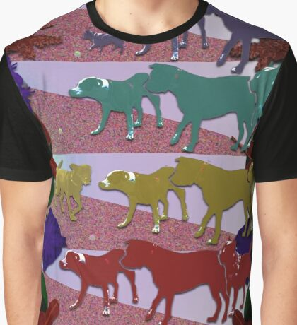 Dogs and Flowers Graphic T-Shirt