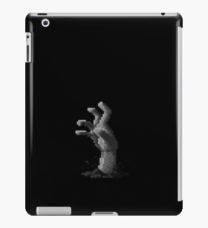 Zombie Grasp Pixels Black and White iPad Case/Skin