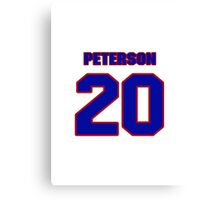 National baseball player Cap Peterson jersey 20 Canvas Print