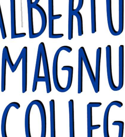 Albertus Magnus College Sticker