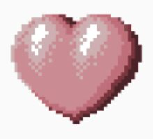 Heart Pixels One Piece - Short Sleeve