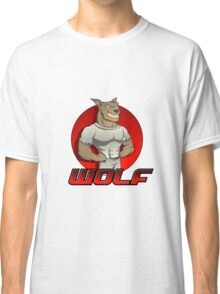 Cartoon werewolf on the red  Classic T-Shirt