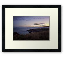 Sunset on Cruden Bay - North East coast of Aberdeenshire, Scotland Framed Print