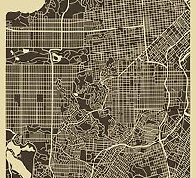 SAN FRANCISCO MAP by JazzberryBlue
