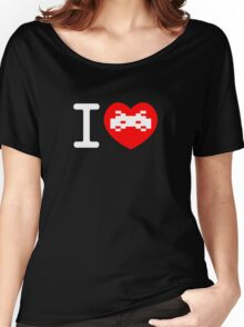 I Love Space Invaders (black) Women's Relaxed Fit T-Shirt