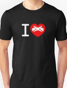 I Love Space Invaders (black) Unisex T-Shirt