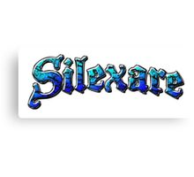 Silexare Text on White Canvas Print