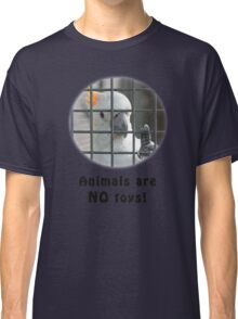 Yellow-Crested Cockatoo behind bars Classic T-Shirt