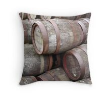 Aging Casks Throw Pillow