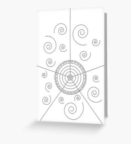 Mandala en espirales Greeting Card