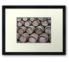 Casks Framed Print