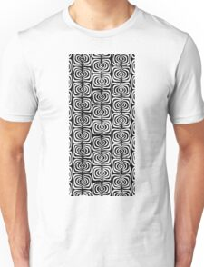 Abstract Black and White Hypnotic Spinning Pattern Unisex T-Shirt