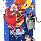Santa with his little dog. Christmas Season. by Kimazo