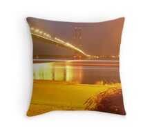 Humber Bridge Stripes Throw Pillow