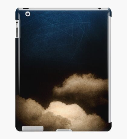 Clouds in a scratched darkness iPad Case/Skin
